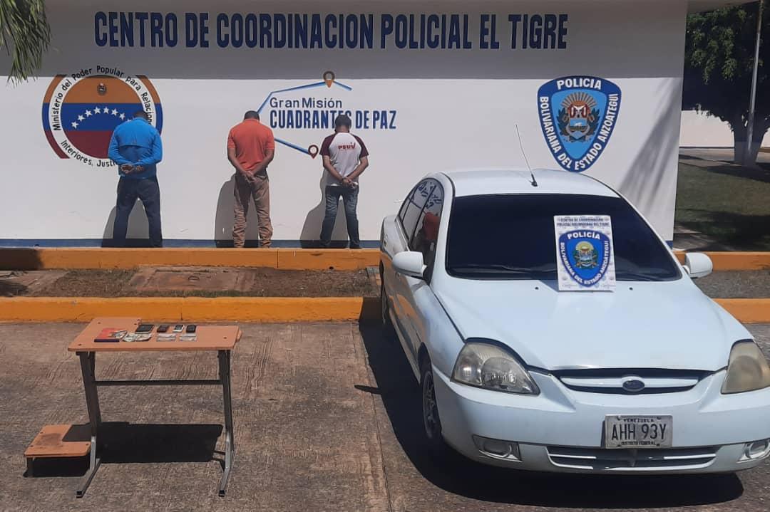 Photo of Polianzoategui capturó a tres integrante de la banda de «el rocola» por presunta extorsión