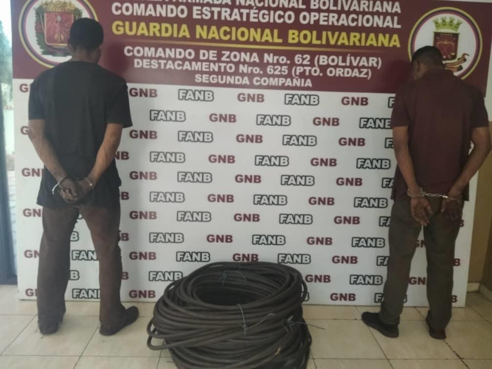 Photo of GNB capturó a dos hombres por robo en la empresa SIDOR